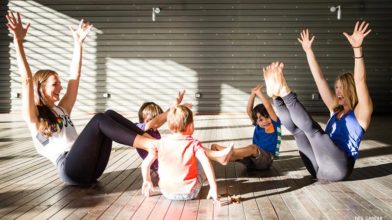 9 Family Friendly Garden Yoga Poses